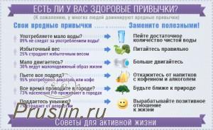 Есть ли у вас здоровые привычки?