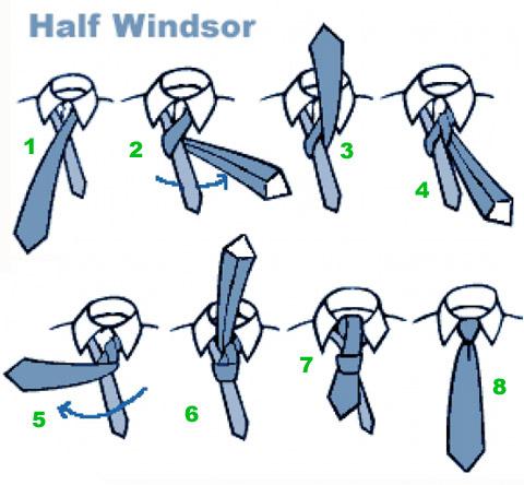 как завязать галстук схема фото самое