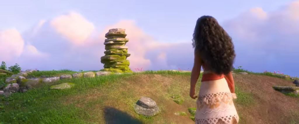 Моана и стопка камней