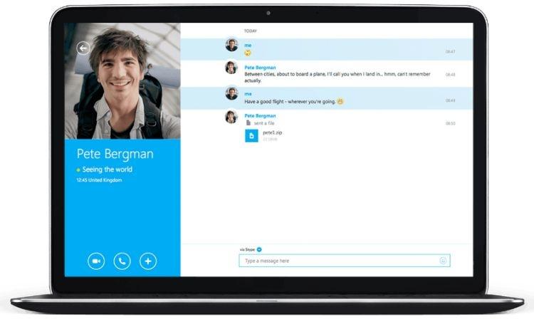 Skype стал едва ли не единственным мессенджером