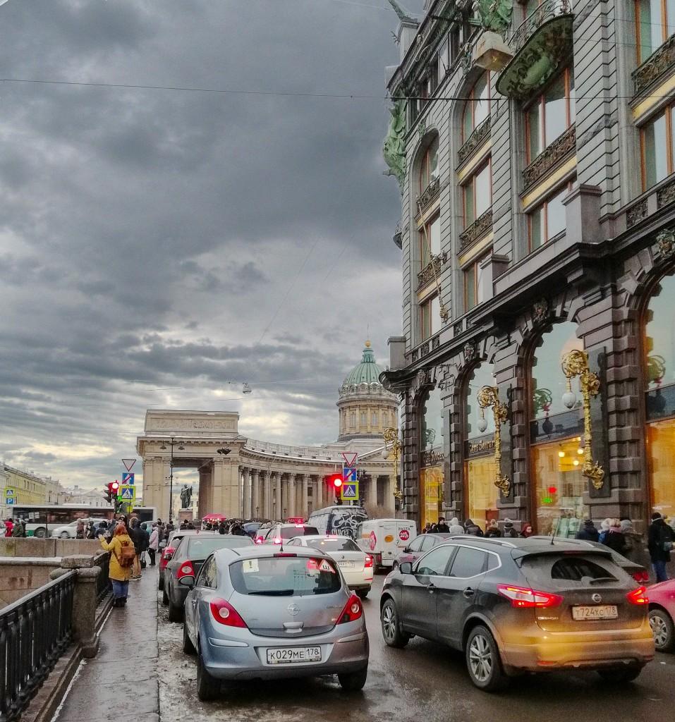 Дом книги и Казанский кафедральный собор