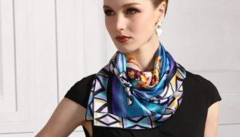 5 способов оригинально завязать платок на шее