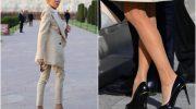 С чем красиво сочетаются туфли на высокой шпильке