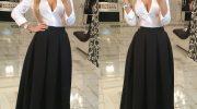 Юбка в пол снова в тренде — как выбрать модную новинку