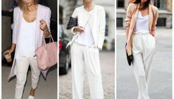 С чем правильно носить белые брюки