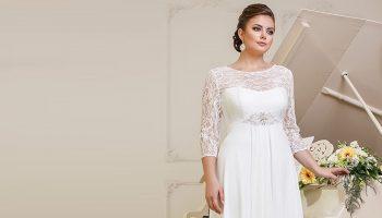 Лучшие фасоны свадебных платьев для полных девушек