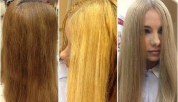 Как тонировать желтый блонд в домашних условиях