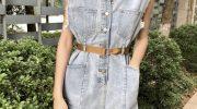 Вареный деним снова в моде: как выбрать джинсовый комбинезон в ультрамодном цвет