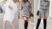 7 трикотажных платьев которые будут в тренде в наступающие холода
