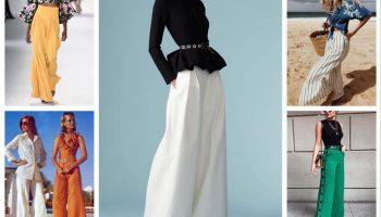 Как носить широкие брюки и не выглядеть нелепо