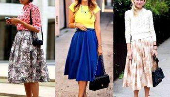 Как носить юбки-миди девушкам низкого роста и не выглядеть «теткой»