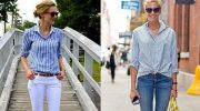 5 способов стильно носить рубашку женщинам после 50 лет