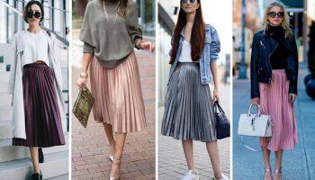 7 комплектов с юбкой плиссе для женщин после 40 лет