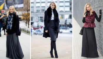 Как и с чем носить юбки этой зимой. 15 стильных примеров