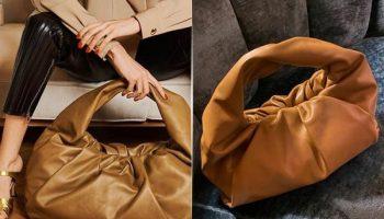 С чем носить модную сумку-круассан в новом сезоне