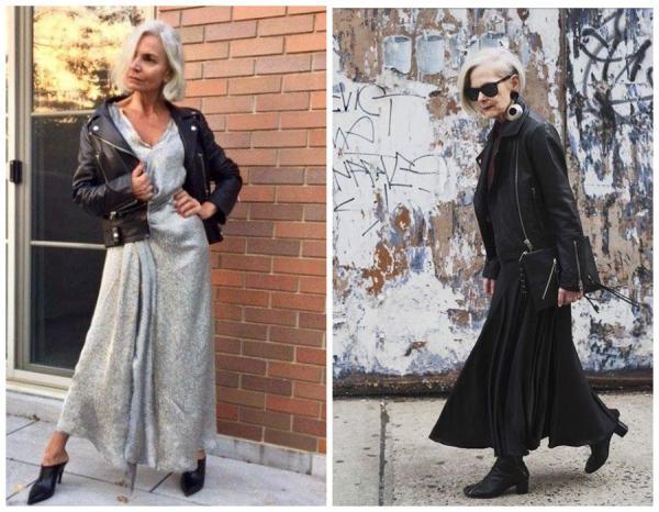 Как носить косуху женщине за 50, чтобы не выглядеть нелепо