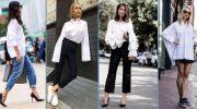 5 идей, как носить белую блузку и не выглядеть скучно
