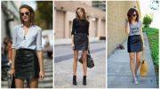 С чем носить короткую юбку осенью. 7 стильных идей