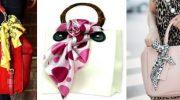 4 способа красиво и стильно завязать платок на сумке