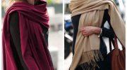 9 эффектных вариантов как стильно носить палантин этой осенью