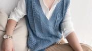 Как правильно носить трикотажный жилет и с чем его сочетать
