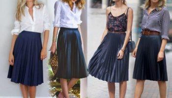 С чем носить модные юбки плиссе