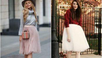 Как правильно сочетать теплый свитер и юбку: 11 стильных примеров