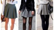 11 образов с короткой юбкой А-силуэта на сезон осень-зима
