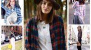 9 стильных образов с утепленной рубашкой на каждый день
