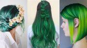 Зеленые волосы – это модно