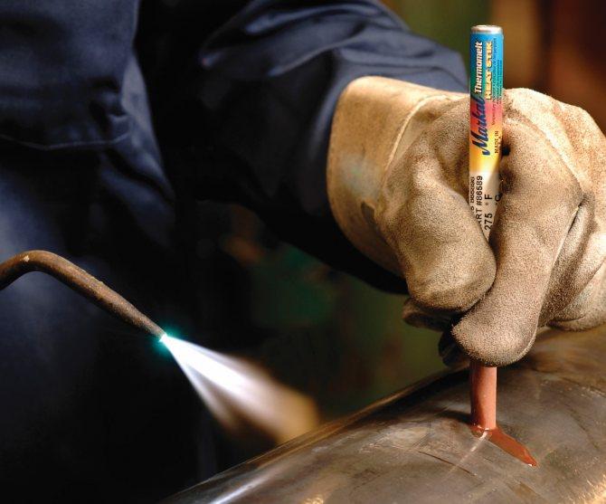 Что такое термоиндикаторный карандаш