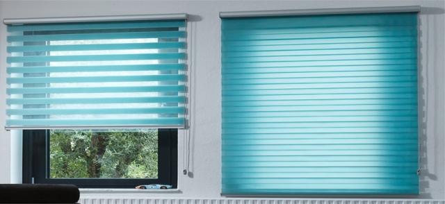 Чем отличаются рулонные шторы день-ночь от стандартных жалюзи
